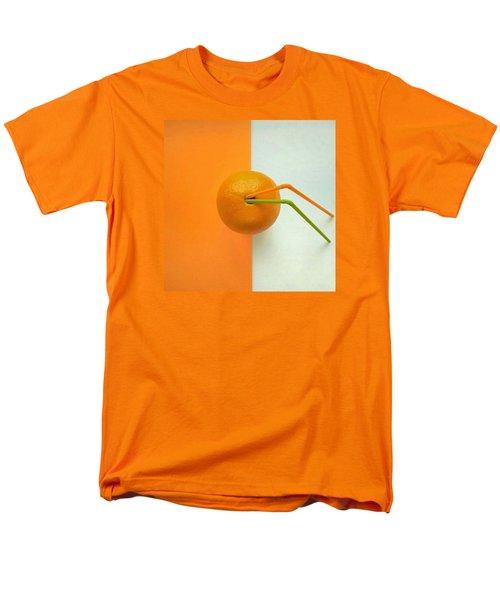 Orange Men's T-Shirt  (Regular Fit) by Ann Foo