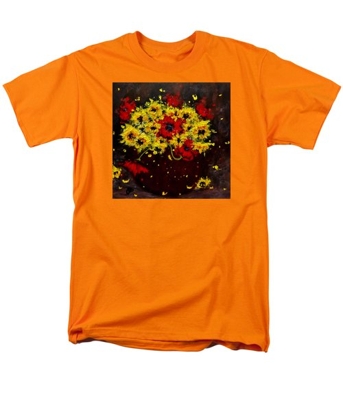 Men's T-Shirt  (Regular Fit) featuring the painting A Bunch Of Happiness.. by Cristina Mihailescu