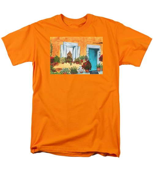 A Cottage In The Village Men's T-Shirt  (Regular Fit) by Patricia Griffin Brett