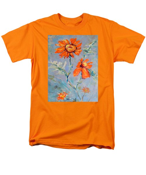 Men's T-Shirt  (Regular Fit) featuring the painting A Glow by Mary Schiros