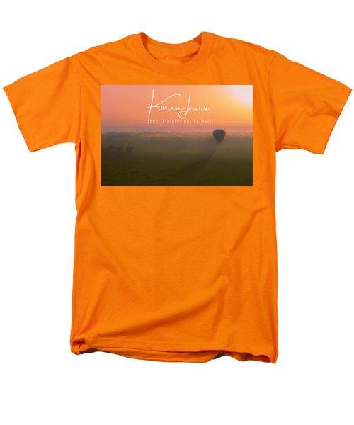Men's T-Shirt  (Regular Fit) featuring the mixed media A Mara Morn by Karen Lewis