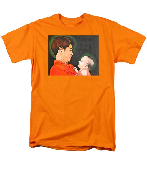 Men's T-Shirt  (Regular Fit) featuring the painting A Moment With Dad by Cyril Maza
