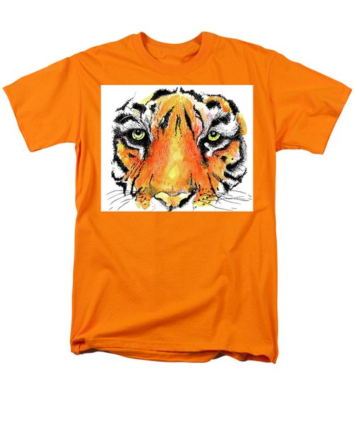 Men's T-Shirt  (Regular Fit) featuring the painting A Nice Tiger by Terry Banderas