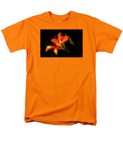 Men's T-Shirt  (Regular Fit) featuring the digital art A Painted Lily by Cameron Wood