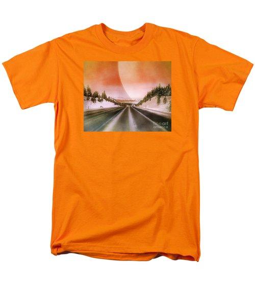 A December Drive 3 - Digital Artwork Men's T-Shirt  (Regular Fit) by Janie Johnson