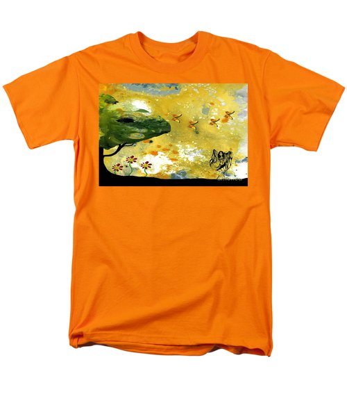 Abstract Acrylic Painting Spring Dance Men's T-Shirt  (Regular Fit) by Saribelle Rodriguez