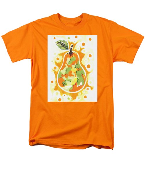 Men's T-Shirt  (Regular Fit) featuring the painting Abstract Pear by Kathleen Sartoris