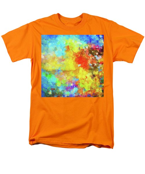 Men's T-Shirt  (Regular Fit) featuring the painting Abstract Seascape Painting With Vivid Colors by Ayse Deniz