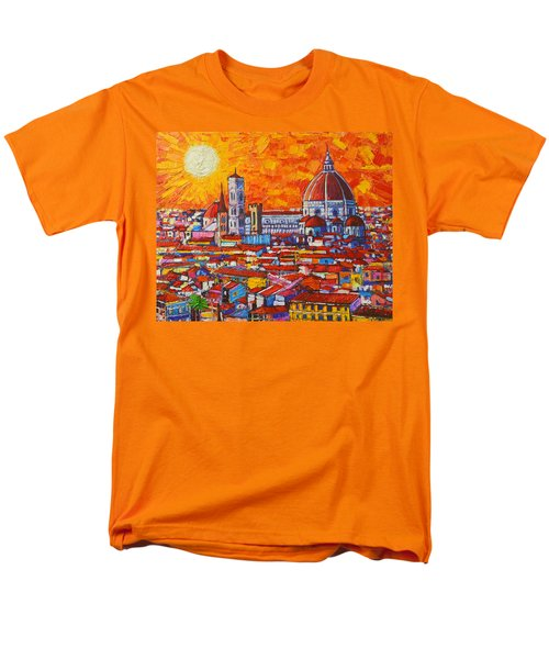 Abstract Sunset Over Duomo In Florence Italy Men's T-Shirt  (Regular Fit) by Ana Maria Edulescu