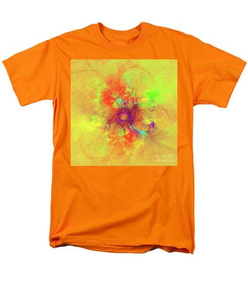 Men's T-Shirt  (Regular Fit) featuring the digital art Abstract With Yellow by Deborah Benoit
