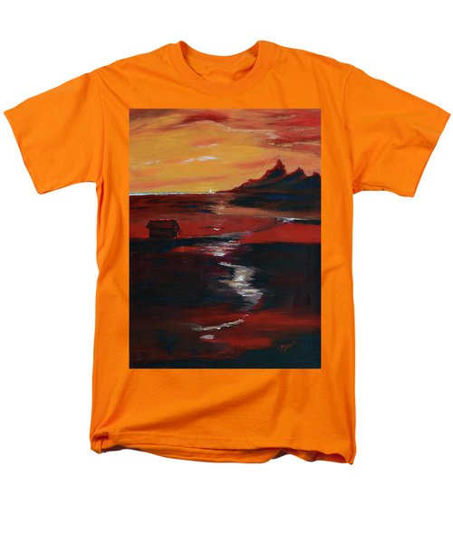 Across Amber Fields To The Sea Men's T-Shirt  (Regular Fit) by Donna Blackhall