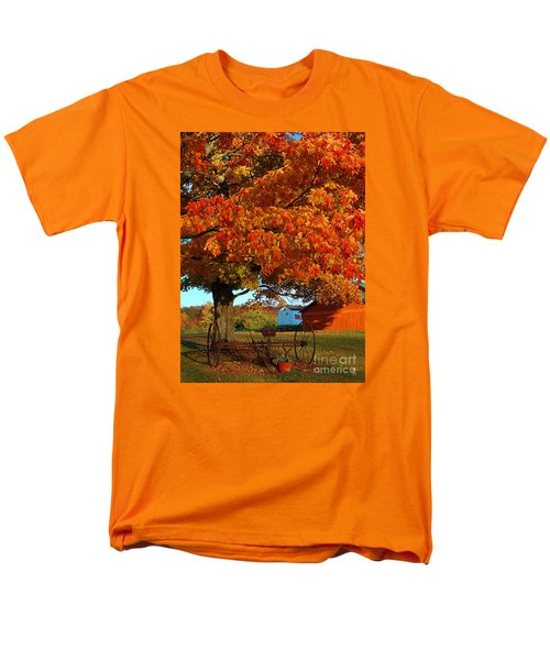 Men's T-Shirt  (Regular Fit) featuring the photograph Adirondack Autumn Color by Diane E Berry