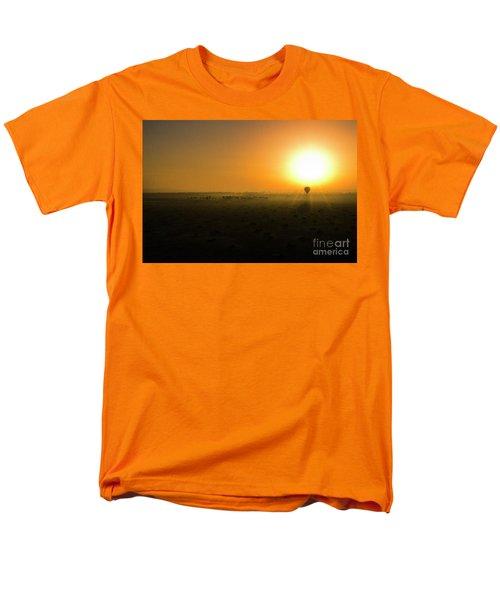 Men's T-Shirt  (Regular Fit) featuring the photograph African Balloon Sunrise by Karen Lewis