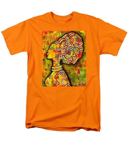 Men's T-Shirt  (Regular Fit) featuring the painting African Queen by Julie Hoyle