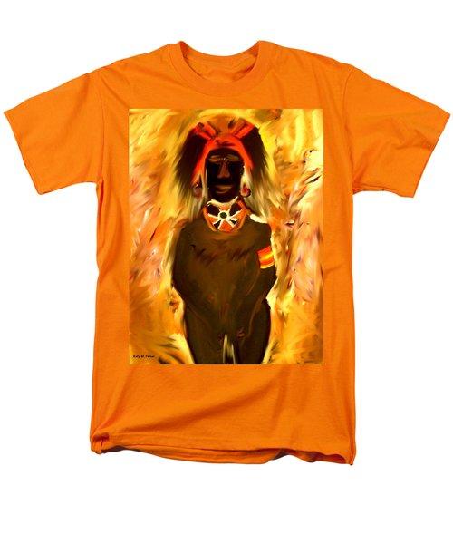 African Warrior Men's T-Shirt  (Regular Fit) by Kelly Turner