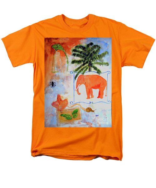 Men's T-Shirt  (Regular Fit) featuring the painting All Creatures Great And Small by Sandy McIntire