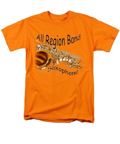 All Region Band Saxophone Men's T-Shirt  (Regular Fit) by M K  Miller