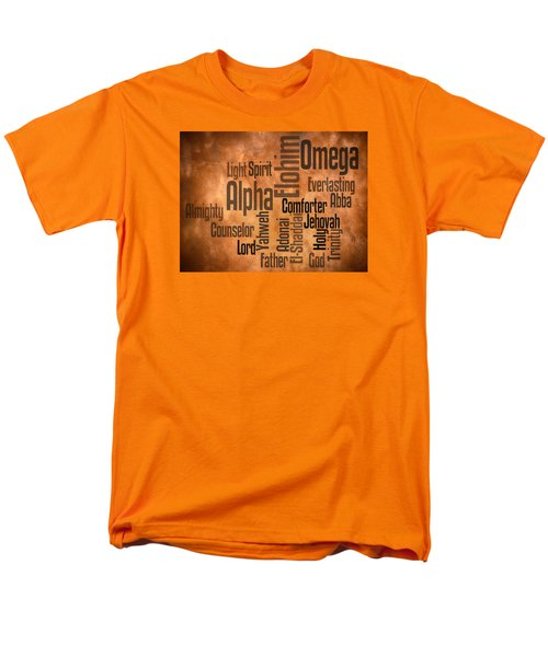 Men's T-Shirt  (Regular Fit) featuring the digital art Alpha And Omega by Angelina Vick