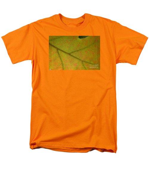 Men's T-Shirt  (Regular Fit) featuring the photograph An Autumn Leaf by Jean Bernard Roussilhe