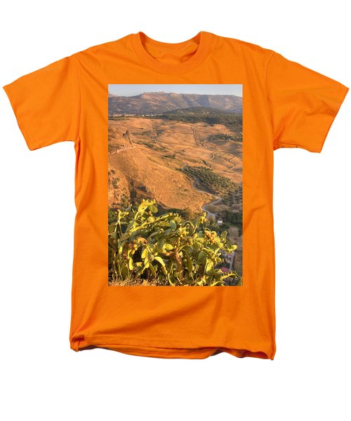 Men's T-Shirt  (Regular Fit) featuring the photograph Andalucian Golden Valley by Ian Middleton