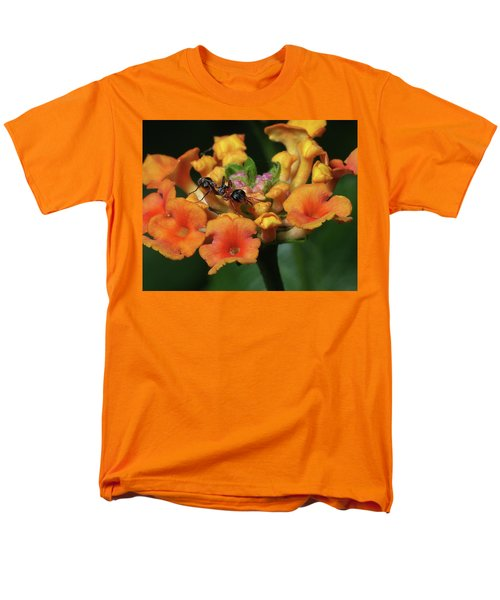 Men's T-Shirt  (Regular Fit) featuring the photograph Ant On Plant  by Richard Rizzo
