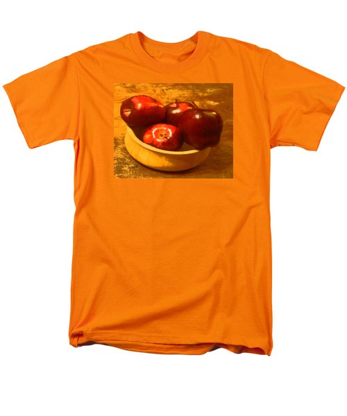 Apples In A Bowl Men's T-Shirt  (Regular Fit) by Walter Chamberlain