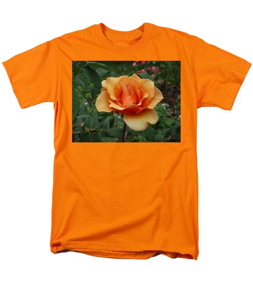 Apricot Rose Men's T-Shirt  (Regular Fit) by Sadie Reneau