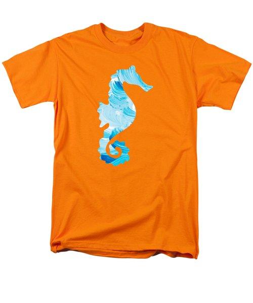 Aqua Abstract Painting Men's T-Shirt  (Regular Fit) by Christina Rollo