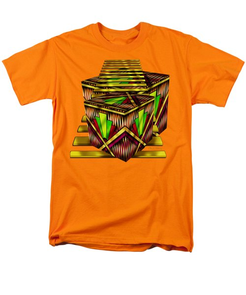 Art Deco Cubes 2 - Transparent Men's T-Shirt  (Regular Fit) by Chuck Staley