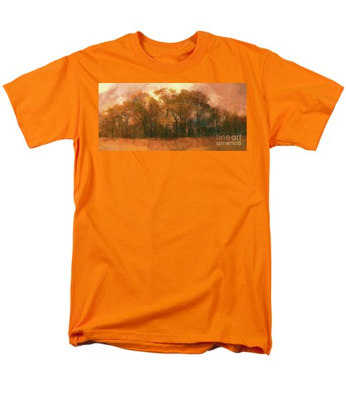 Men's T-Shirt  (Regular Fit) featuring the photograph Artistic Fall Colors In The Blue Ridge Fx by Dan Carmichael