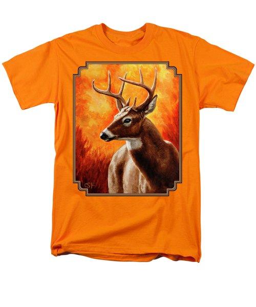 Whitetail Buck Portrait Men's T-Shirt  (Regular Fit) by Crista Forest