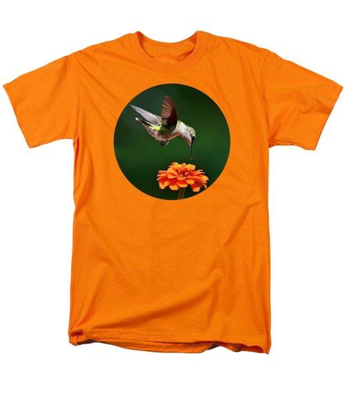 Hummingbird Bullseye Men's T-Shirt  (Regular Fit) by Christina Rollo