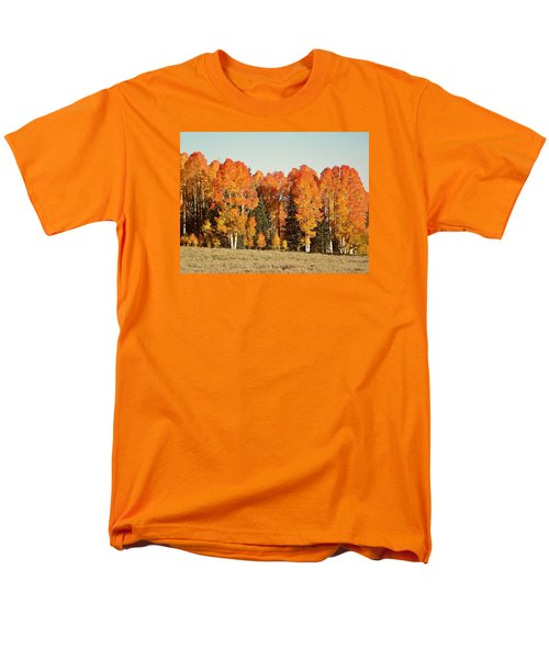 Men's T-Shirt  (Regular Fit) featuring the photograph Aspen Forest In Autumn by Deborah Moen