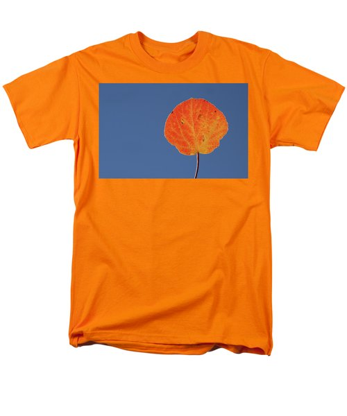 Men's T-Shirt  (Regular Fit) featuring the photograph Aspen Leaf 1 by Marie Leslie