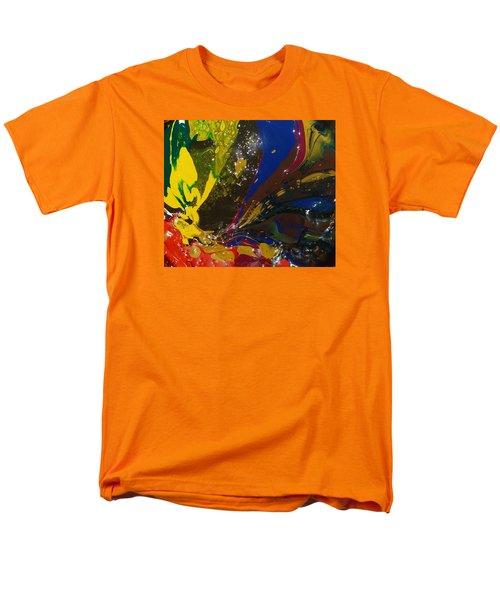 Atom, Surfing On Dog Men's T-Shirt  (Regular Fit) by Gyula Julian Lovas