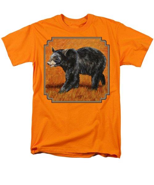 Autumn Black Bear Men's T-Shirt  (Regular Fit) by Crista Forest