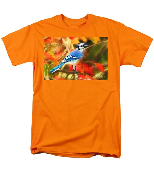 Autumn Blue Jay Men's T-Shirt  (Regular Fit) by Tina LeCour