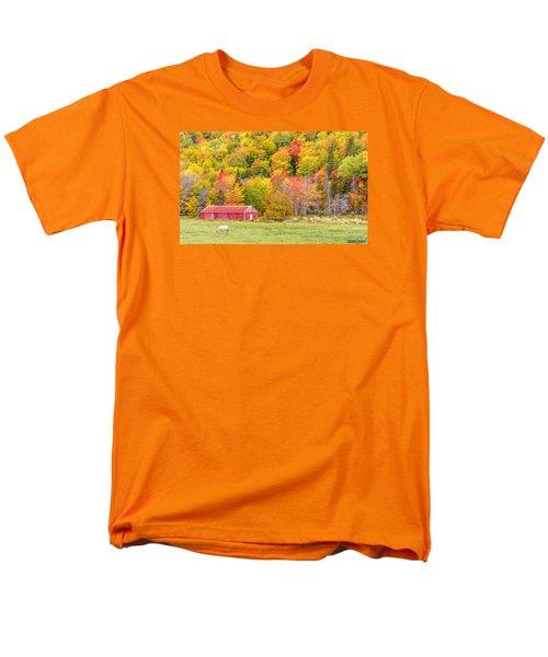 Autumn Colors Near Lake Ainslie  Men's T-Shirt  (Regular Fit) by Ken Morris