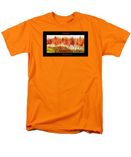 Men's T-Shirt  (Regular Fit) featuring the painting Autumn Joy by Suzanne Canner