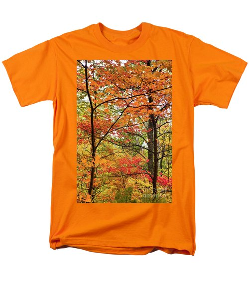 Men's T-Shirt  (Regular Fit) featuring the photograph Autumn Splendor Fall Colors Leaves And Trees by Dan Carmichael