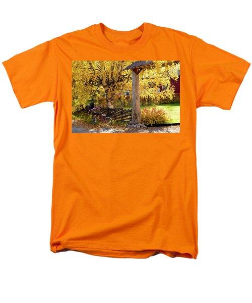 Rural Rustic Autumn Men's T-Shirt  (Regular Fit) by Tamara Sushko