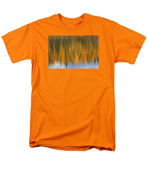Autumn Tree Reflections Men's T-Shirt  (Regular Fit) by Elvira Butler