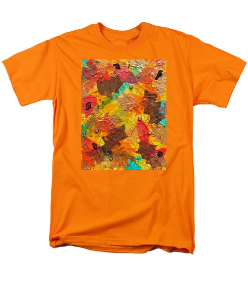 Autumn Leaves Underfoot Men's T-Shirt  (Regular Fit) by Michele Myers