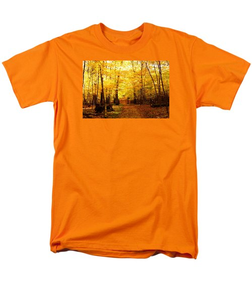 Men's T-Shirt  (Regular Fit) featuring the photograph Autumns Blaze by Steven Clipperton