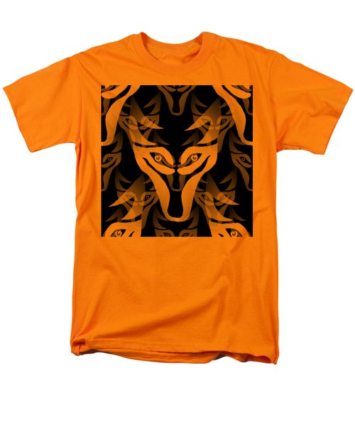 Background Choice Black Wolf Men's T-Shirt  (Regular Fit) by Barbara Moignard