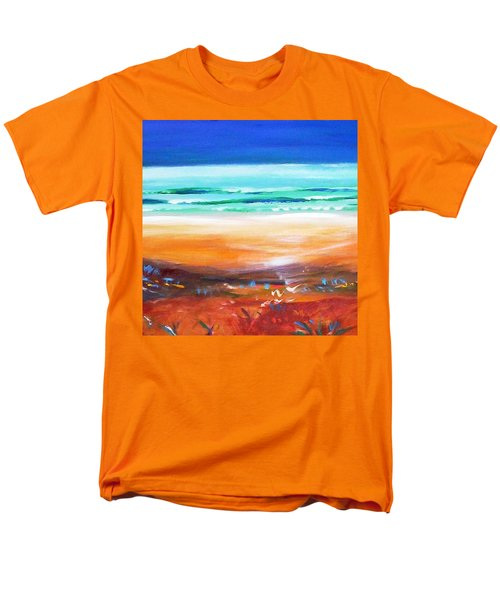 Men's T-Shirt  (Regular Fit) featuring the painting Beach Joy by Winsome Gunning
