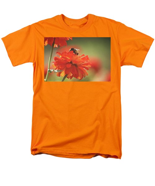 Men's T-Shirt  (Regular Fit) featuring the photograph Bee And Flower Iv by Donna G Smith