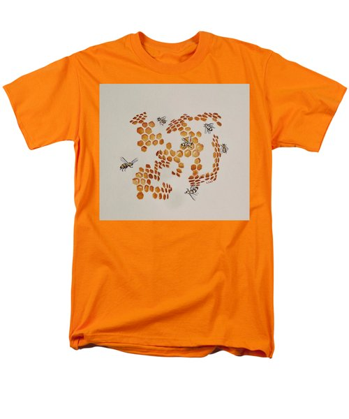 Men's T-Shirt  (Regular Fit) featuring the painting Bee Hive # 3 by Katherine Young-Beck