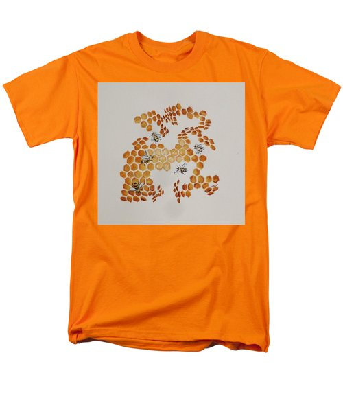Men's T-Shirt  (Regular Fit) featuring the painting Bee Hive # 5 by Katherine Young-Beck