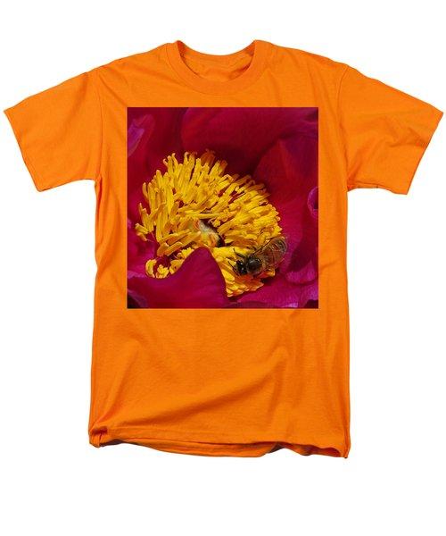 Bee On A Burgundy And Yellow Flower2 Men's T-Shirt  (Regular Fit) by John Topman